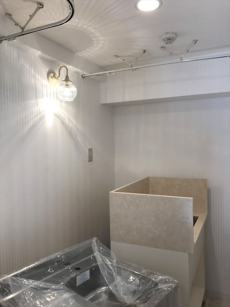 着替と洗面スペース
