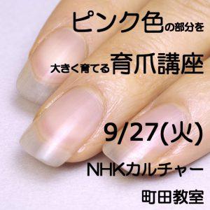 ピンク色の部分を大きく育てる育爪講座